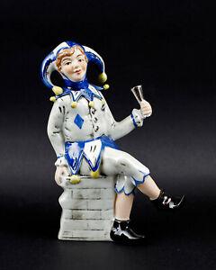 9942399-Porcelain-Figurine-Fool-Harlequin-with-Cup-Blue-Wagner-amp-Apel-H18cm