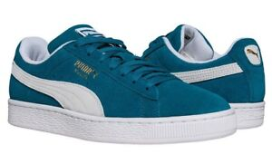 d63c6b213869 Image is loading New-PUMA-Suede-Classic-Casual-Shoes-Mens-teal-