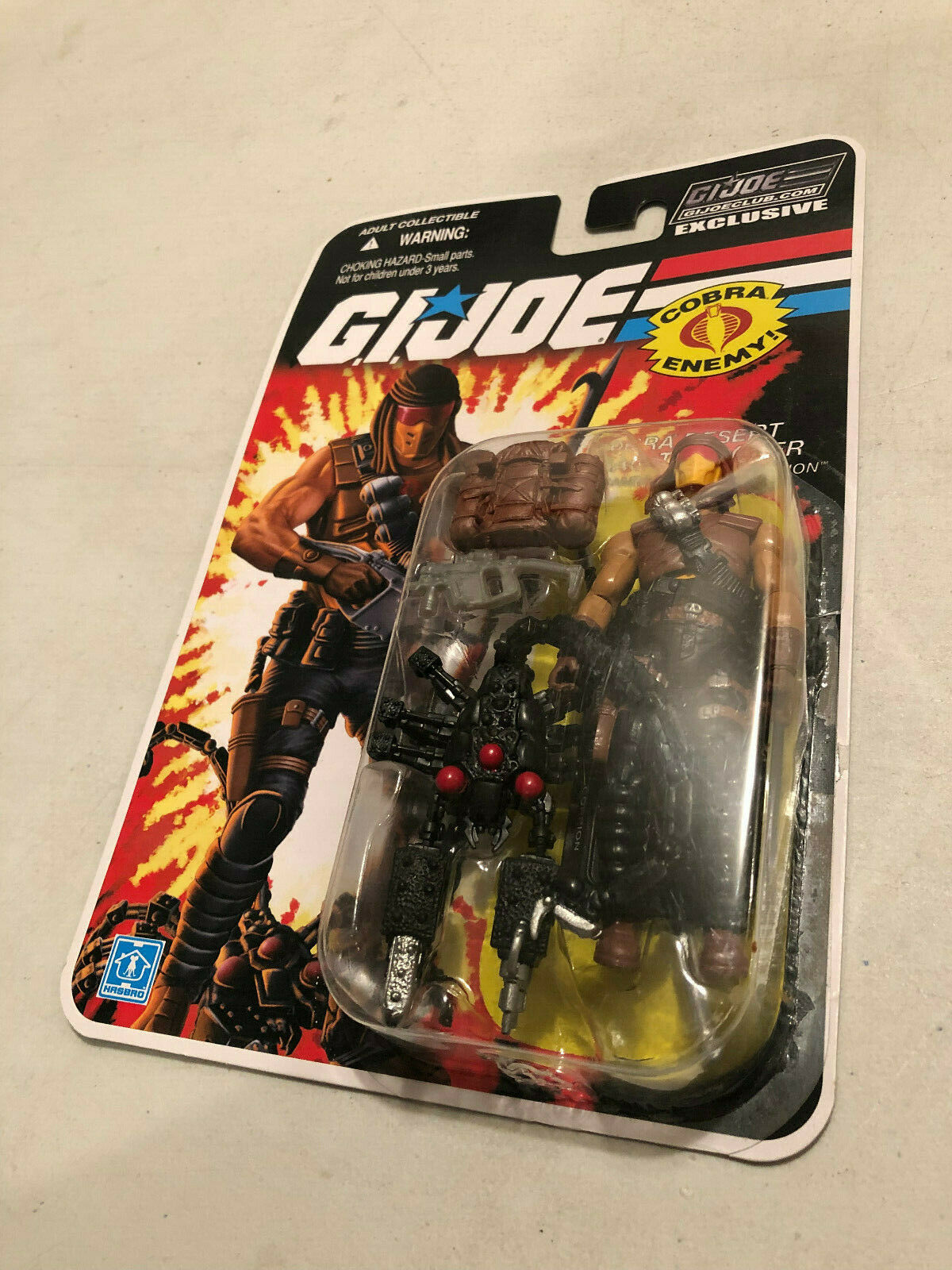 Gi Joe Collector's club exclusivo FSS Cobra Desert Scorpion Trooper 25TH Estilo