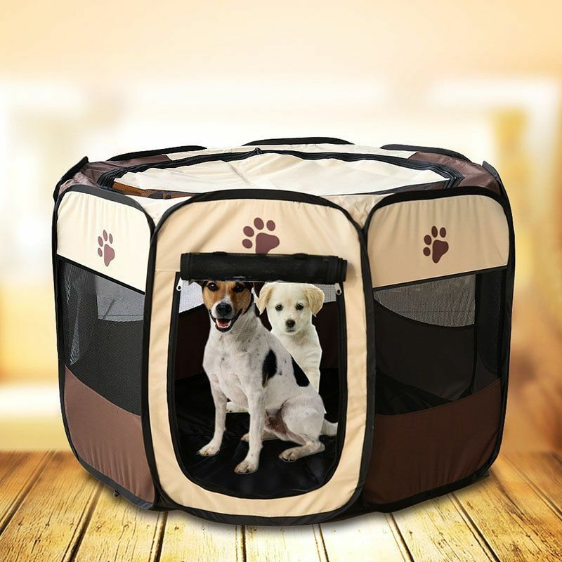 Dog Kennel Foldable Pet Cage Soft Crate Playpen Outdoor Exercise Training Tent