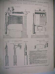 Planche Science école Polytechnique Générateurs Inexplosibles Système Belleville Qe5z55cw-10042346-344833219