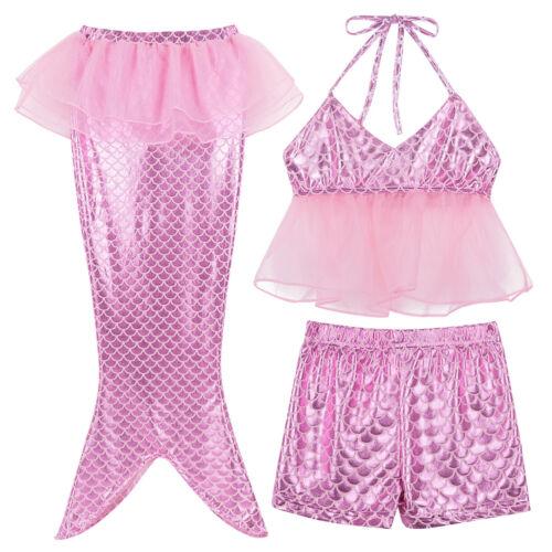 Toddler Kid baby girl MERMAID Maillots de bain maillot de bain Natation Costume Ensemble Bikini