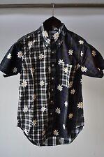 "Mark McNairy New Amsterdam ""Daisy Tartan"" Flower Embroidery Shirt S Small"
