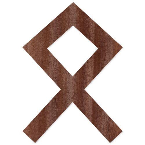 Different Sizes Older Futhark Runes in Real Wood Veneer dunkel-holz-runen