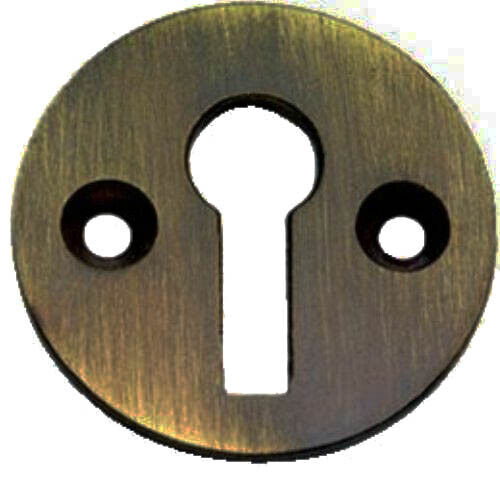 Solid Antique Polished Brass Victorian Door Key open Escutcheon XL104