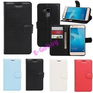 Portefeuille-Cuir-Carte-Clapet-Support-Pochette-Coque-Skin-pour-Huawei-Honor-7