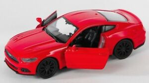 BLITZ-VERSAND-Ford-Mustang-GT-2015-rot-red-1-34-Welly-Modell-Auto-NEU-amp-OVP-1