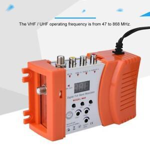 Mini-Digital-RF-Modulator-AV-RF-AV-TV-Converter-VHF-UHF-for-Audio-Video-Signal