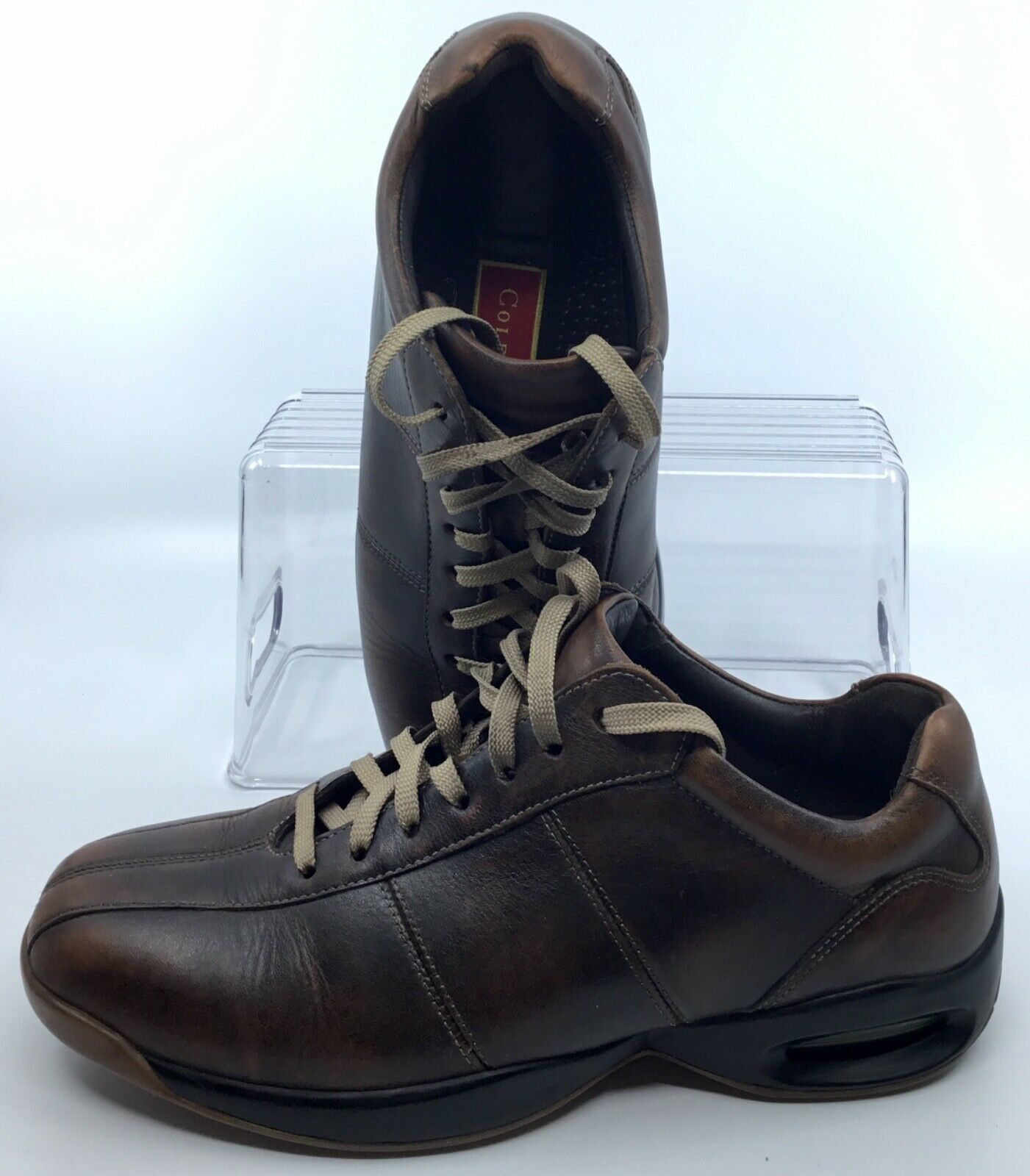 Cole Haan Air Walking shoes Mens 7 M Brown Bicycle Toe Lace Up Athletic Sneakers