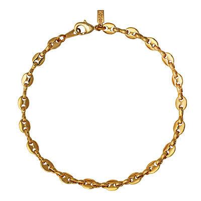 14k Gold or white plated 2 mm Figaro ankle bracelet USA MADE Lifetime warranty