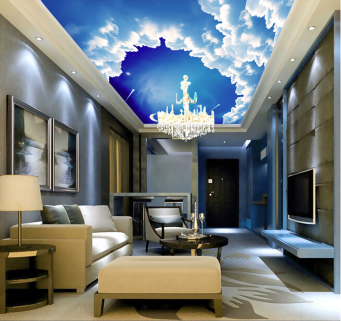 3D Blau Sky Clouds 832 Wall Paper Wall Print Decal Wall Deco AJ WALLPAPER Summer