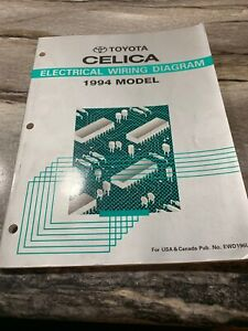 1994 Toyota Celica Original Factory Electrical Wiring Diagrams Manual Ebay