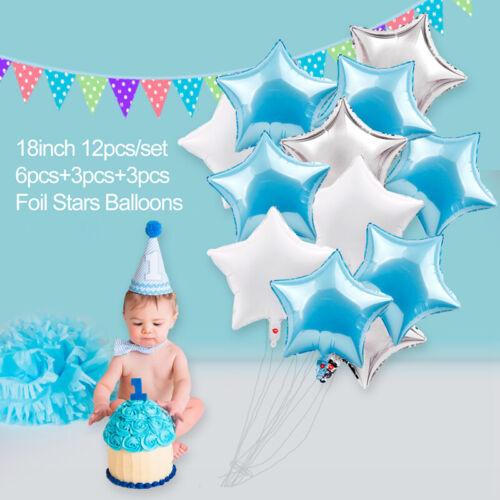 Geburtstag für Junge Hochzeitsfeier Babyparty Blau Thema Foto Booth Stütze 1