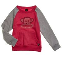 Paul Frank Julius Monkey Girls Pink Rhinestone Pullover Top Sweatshirt S 6