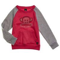 Paul Frank Julius Monkey Girls Pink Rhinestone Pullover Top Sweatshirt S 6