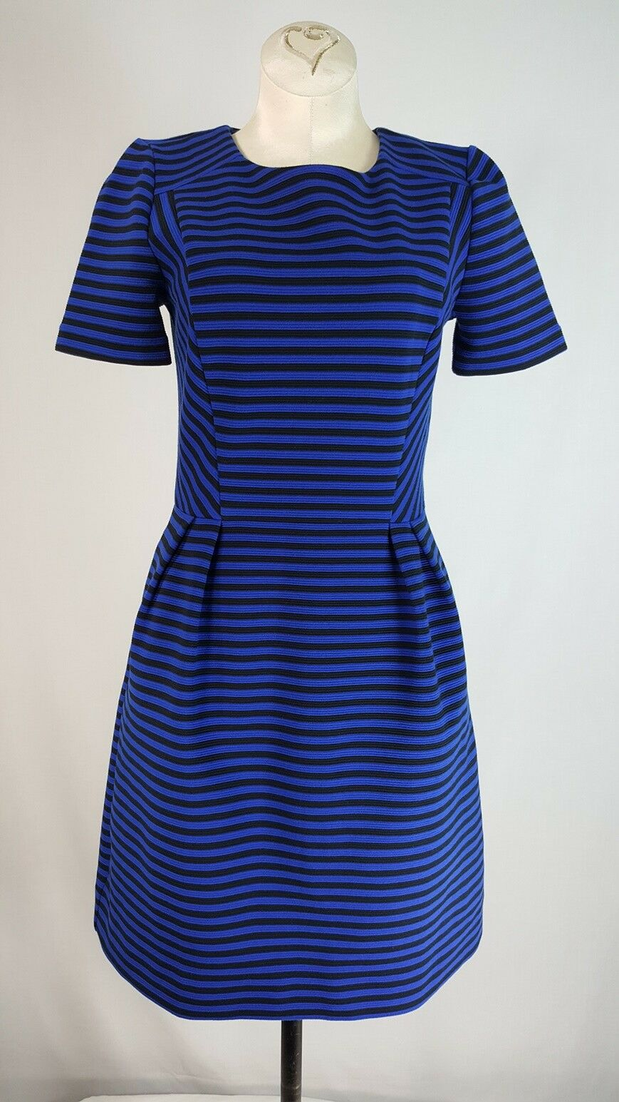 Madewell bluee Striped Short Sleeve Dress Size 2 Gallerist Ponte Knit
