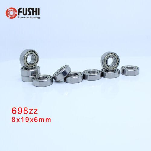698ZZ Bearing ABEC-5 10PC 8x19x6 mm Miniature Ball Bearings 698Z EMQ Z3V Quality