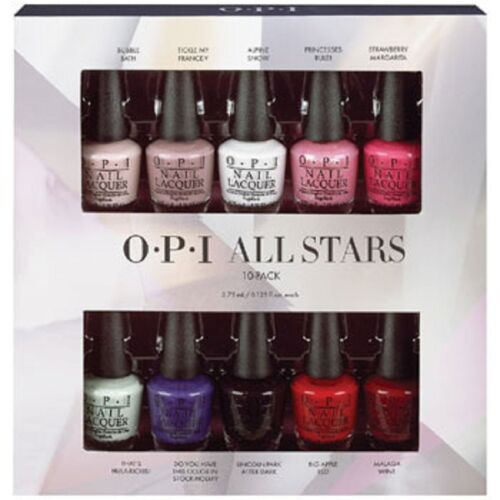 Opi All Stars Nail Varnish Gift Set 10 X 3 75ml Mini Polish Lacquer Collection Ebay