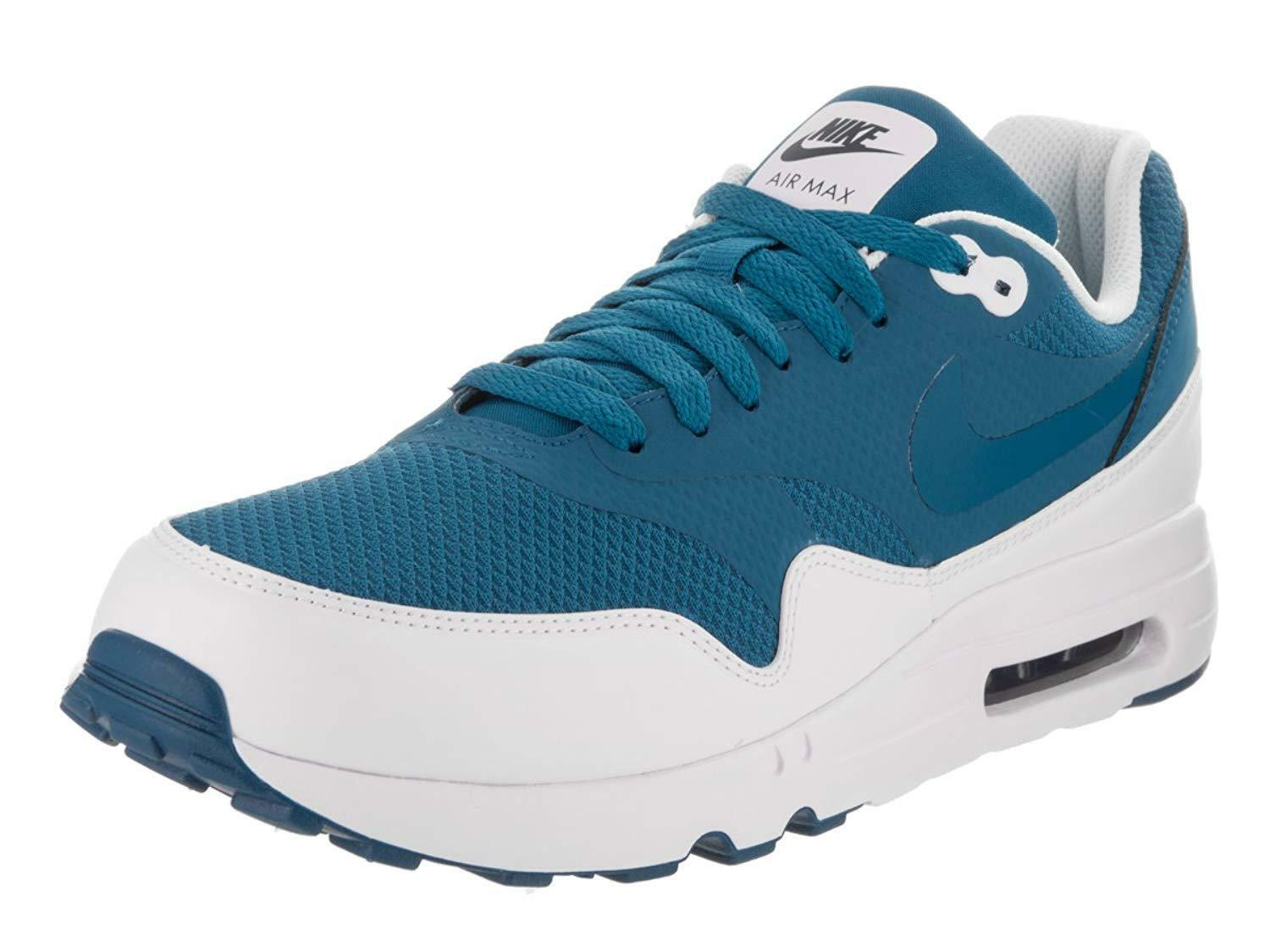 Nike Air Max 1 Ultra 2.0 ESS Mens 875679 402 White Blue Running Shoes Size 12