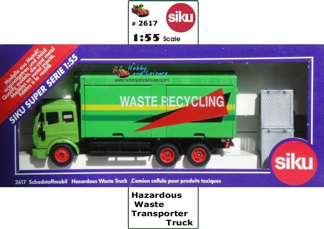 Siku 2617 Mercedes SK OVP (Hazardous Waste Transporter)w Bins 1 55 Scale