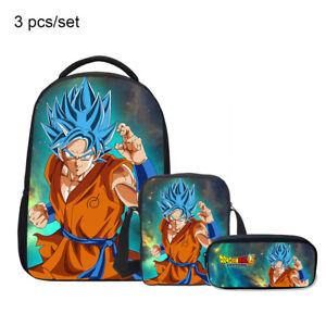 Dragon Ball Z Son Goku Bag Backpack Lunch Box Cross Body Pen Bag Wholesale Kids