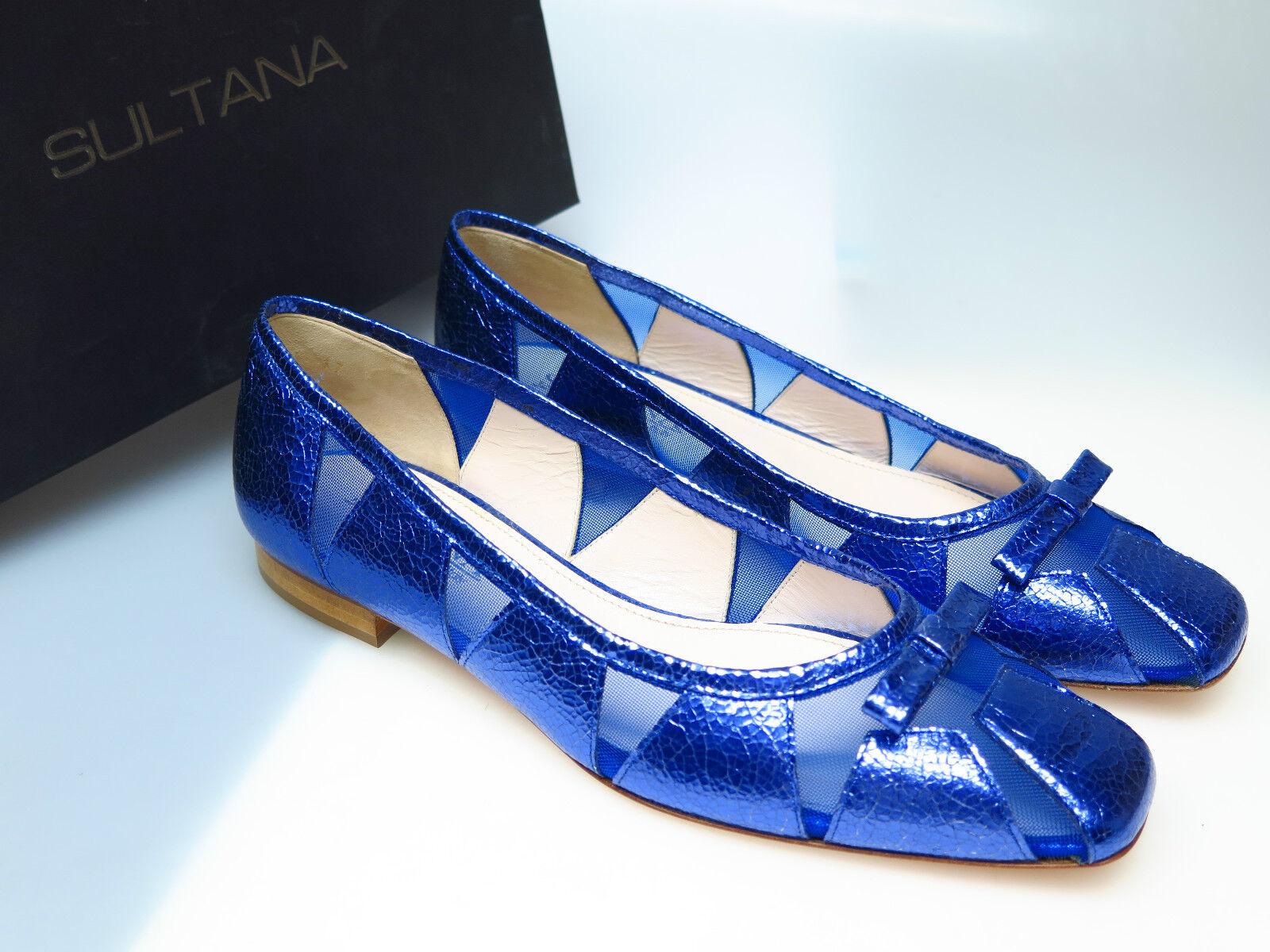 SULTANA Schuhe Designer Damenschuhe N4500 Tati Vegas Indaco Goldi Gr. 37 NEU