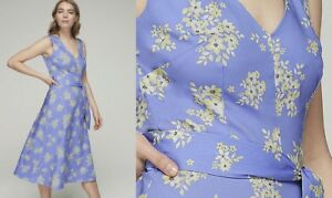 LONG-TALL-SALLY-Blue-Floral-Rich-Cotton-Sateen-Dress-SIZES-10-to-22