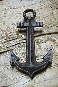 Cast iron antique style ship anchor door knocker nautical pirate brown finish ebay - Nautical door knockers ...