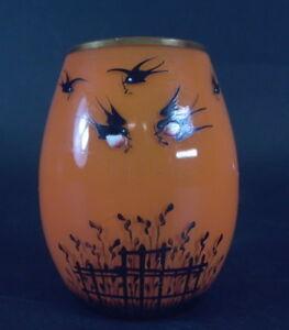 Art-Deco-Tangoglas-Schwarzlotbemalung-Voegel