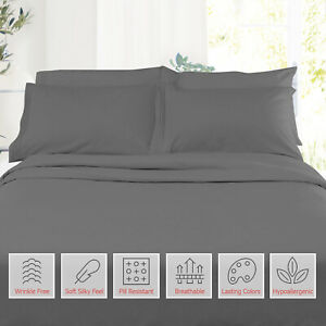 Double-Brushed-Soft-Microfiber-Hotel-Style-Bed-Sheets-Deep-Pocket-Sheet-Set