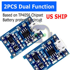 2pcs 5v 1a Micro Usb Tp4056 18650 Lithium Battery Charging Board Charger Module