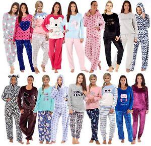 745aa7477d Womens Soft Fleece Pyjamas Lounge Set Twosie Warm Pjs Ladies Lounge ...