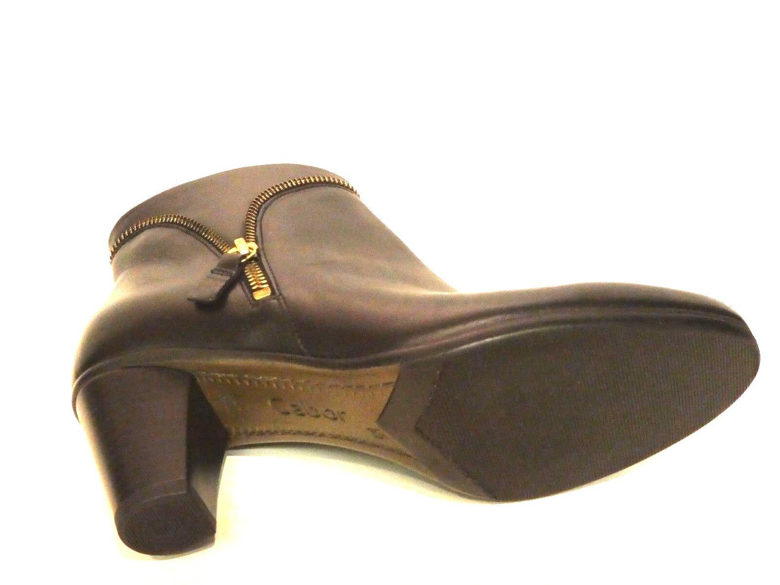 Gabor Schuhe Stiefel Stiefeletten Ankle Stiefel schwarz Leder Leder Leder modisch Gr. 37,5 d3e335