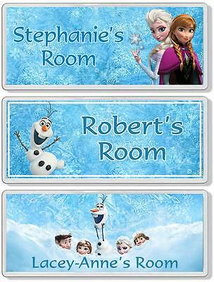 Disney Frozen Personalised Bedroom Door Plaque / Sign *ANY NAME / MESSAGE*