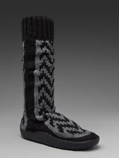 "NIB Gypsy 05 Slipper Boots Snake Grey Black Low 18"" Sz US 7 Euro 37 1/2"