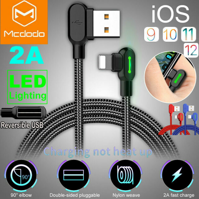 info for 94c72 4521c Mcdodo 90 Degree For iPhone Cable Right Angle lightning Cable USB Charger  Cords