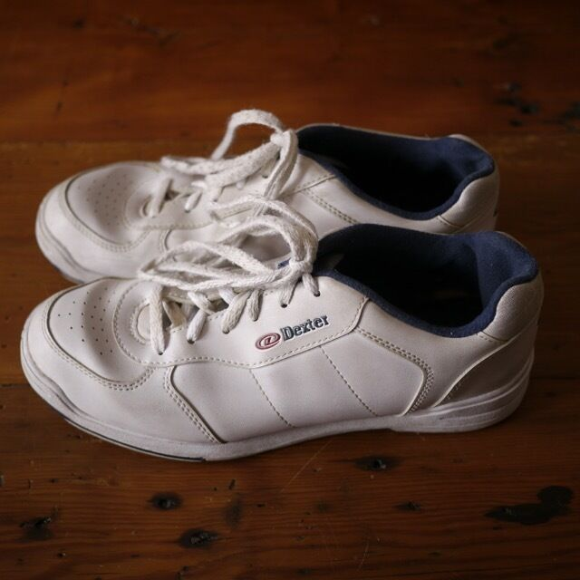 Dexter White Athletic Bowling shoes Mens Leather Soles 9 41.5