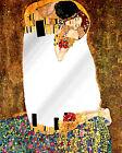 Espejo-Cuadro, Beso de Klimt, Madera 3cm, con Textura Óleo, Listo para Colgar