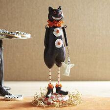 Pier 1 Glitter Halloween Party Cat Vintage Retro Style Figurine Sculpture New!