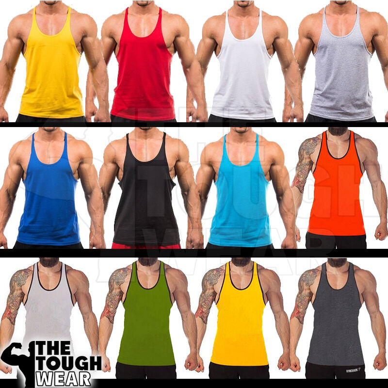 ab33146a08a9d4 Details about Gym Singlets - Bodybuilding Tank Top Gym Stringer Y-Back  Muscle Racerback