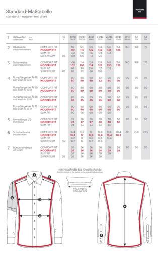 Eterna Calzini Business Camicia Manica Lunga MODERN FIT ROSSO struttura 8858.52.x177