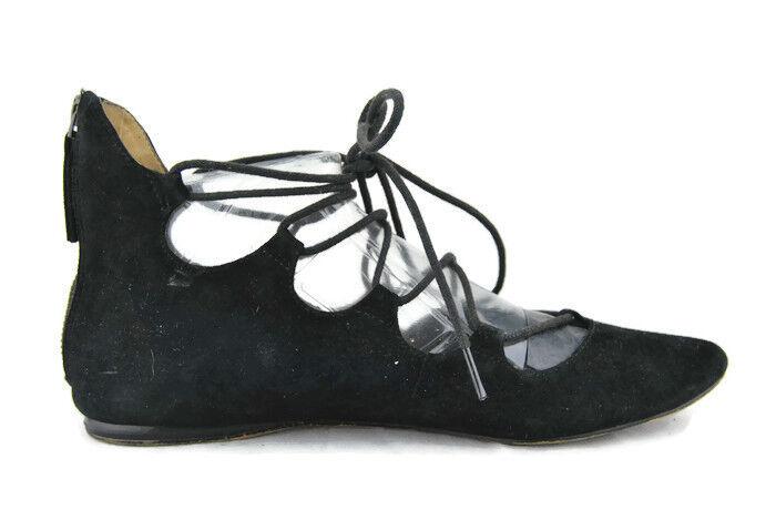 Pour Femmes Nine West signmeup daim Ballet flat chaussures, NOIR en daim, 8.5 M, 0594
