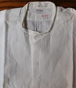 AgréAble Rialbo Empesé Robe Tunique Chemise Pin Tuck Devant Taille 15.25 Vintage Début 1900 S-afficher Le Titre D'origine