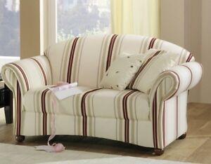 Das Bild Wird Geladen Sofa  Couch 2 Sitzer Landhaus Gestreift Streifen Muster