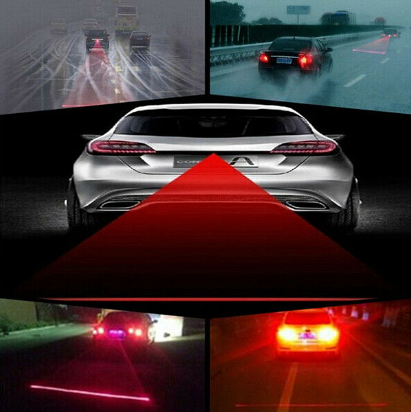 Auto Car Laser Fog Rear Safety Anti-collision Warning Signal Taillight Lamp Bulb