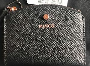 Mimco-Sublime-black-card-pouch-small-wallet-purse-leather-Authentic-new