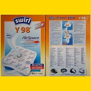 4-Beutel-Swirl-Y-98-MicroPor-Staubsaugerbeutel-Y98-frei-Haus-per-Warensendung