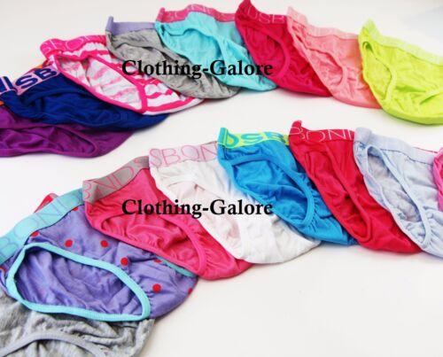 8 PAIRS x BONDS Girls Bikini Briefs Underwear Undies Brief Assorted Colours