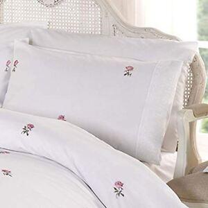 Alicia-Floral-Set-Housse-de-Couette-Simple-Vintage-Literie-Blanc-amp-Rose
