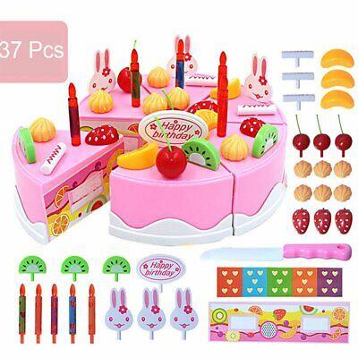 Wondrous 37Pcs Kitchen Cutting Toys Birthday Cake Pretend Play Food Toy Set Funny Birthday Cards Online Inifodamsfinfo